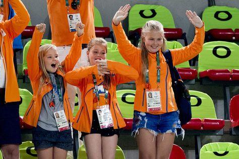 Les princesses Ariane, Alexia et Catharina-Amalia des Pays-Bas aux JO de Rio, le…