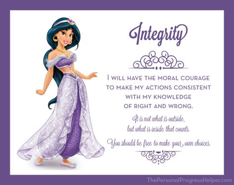 Young Women Value Disney Princess Posters   Integrity: Jasmine