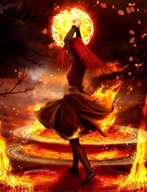 Fire surrounds and uncontrolled will consume, when it is balanced it is  beautiful and life giving.