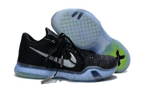 the latest c582f 79407 2018 Shop NikeLab Kobe 10 X Elite Low HTM Mamba Arrowhead Black Reflective  Silver