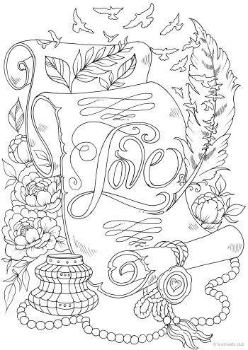 Liebesbrief Coloring Pages Coloring Liebesbrief Pages Malvorlagen Blumen Kurbis Malvorlage Mandala Malvorlagen