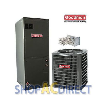 Central Air Conditioners 185108 2 5 Ton Goodman 14 Seer Ac Split System Gsx140301 Aruf31b14 Buy Central Air Conditioners Heat Pump System Goodman Heat Pump