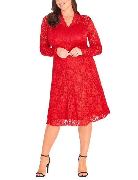 best sneakers 99f57 174da Spitzen-Kleid, rot | Mode 42 | Dresses with sleeves, Sleeves ...