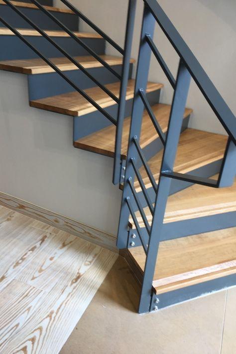 Escalier Design Metal Bois Avec Verrieres Et Garde Corps Pour Le
