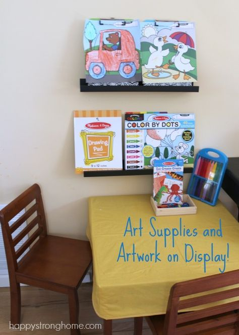 Open Toy Storage: Inviting Our Children to Play *art supplies for easy access
