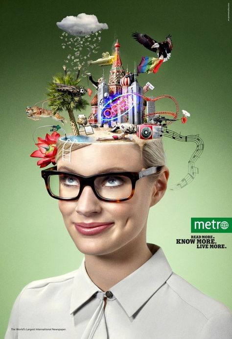 Creative and Inspiring Advertisement Photos from Metro campaign
