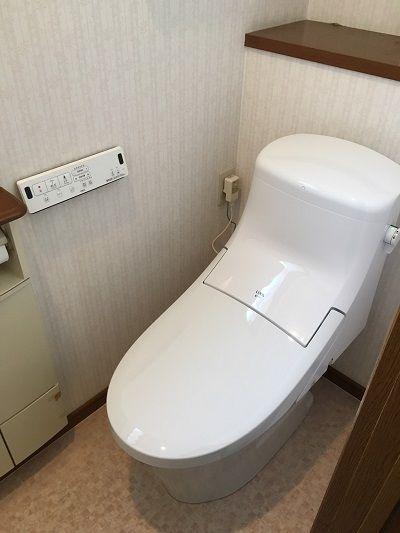 トイレの入れ替えリフォームです Lixil アメージュza お客様より 仕事の質は高かったと思います 問題があったときも