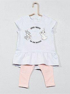 c7ae6e87c5983b Niña 0-36 meses - Conjunto de vestido + legging 'Conejita' - Kiabi ...