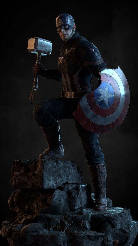 Marvel Fan Art, Marvel Heroes, Marvel Characters, Marvel Avengers, Marvel Comics, Captain America Background, Captain America Wallpaper, Marvel Wallpaper, Captain America Action Figure