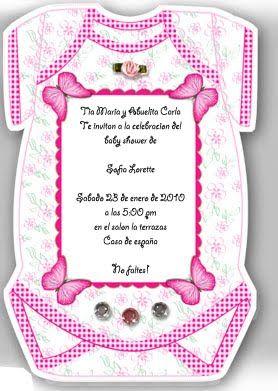 Modelos De Invitaciones Para Un Baby Shower Fiesta101 See It