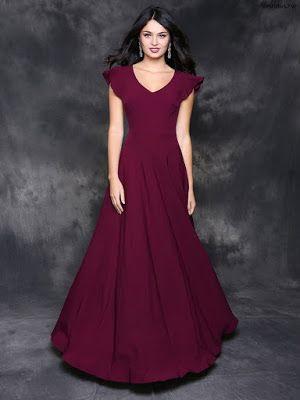 Vestidos Largos De Noche Elegantes En 2019 Vestidos Color