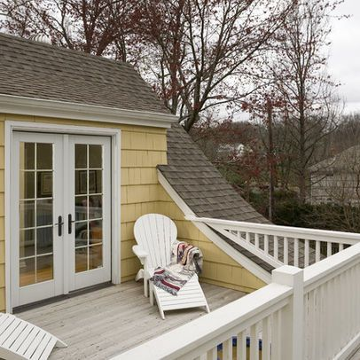 Idea for adding deck over our 2nd floor bedroom addition. 3rd floor reading  room library with deck | home design ideas | Pinterest | Decking, Bedrooms  and ...