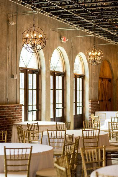 Beautiful Modern Indoor Wedding Reception At The Park Crest Event Facility Birmingham Al Party Venue Alabama Wedding Venues Modern Wedding Venue Venues