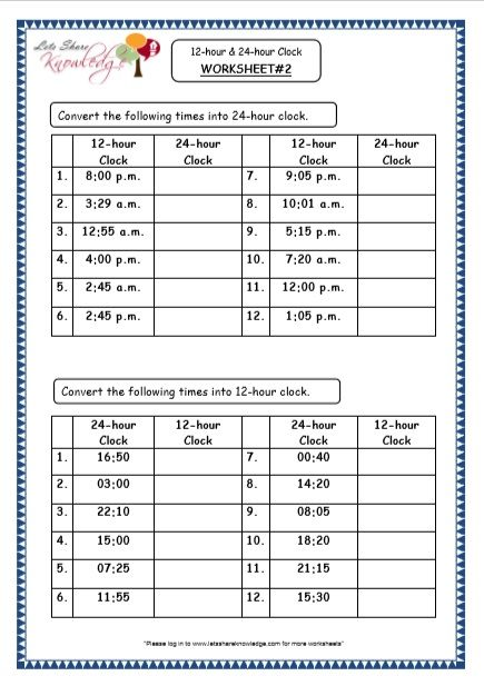 Time 12 Hour 24 Hour Clock Printable Worksheets 24 Hour Clock 24 Hour Clock Worksheets Math Resources