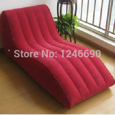 intime brand new high quality flocking pvc inflatable sofa bed for 1 red s type style lounge chair load 150kgin inflatable chairs fu2026