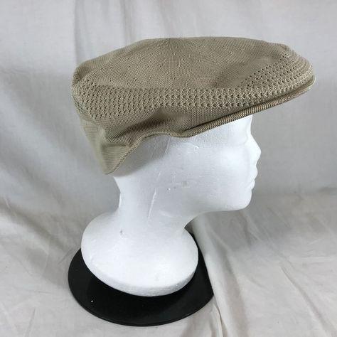 2732f7002f18e Kangol Tropic 504 Ventair Hat Flat Cap Beige CAO1474 Golf Hat XL Tan Khaki   Kangol  GolfCap
