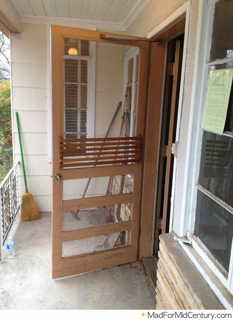 Mad For Mid Century Vintage Screen Doors