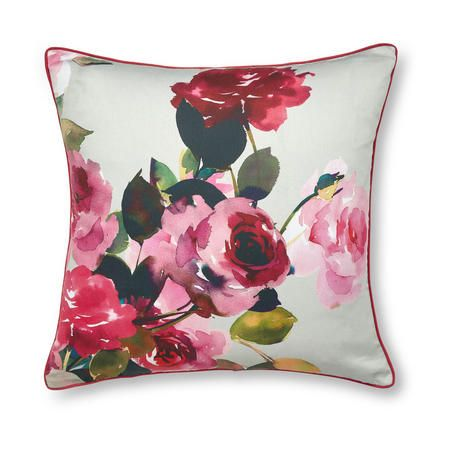 Dorma Roses Cushion Pink 45 X 45cm Pink Pink Red Rose Bouquet