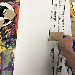 Elements of the Art Room: 4th Grade Fall or Winter Birch Trees