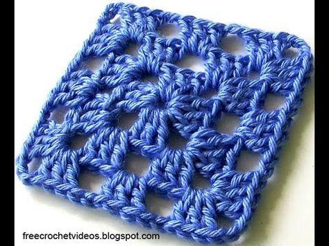 Classic Granny Square In One Color Granny Square Crochet Pattern