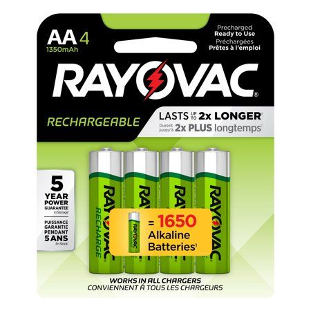 Rayovac Rechargeable Aa Batteries 4 Pack Nimh Double A Batteries Walmart Com Rechargeable Batteries Rechargeable Battery Charger Recharge