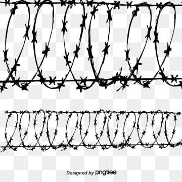 Barbed Wire Vector Png And Vector Barbed Wire Wire Barbs