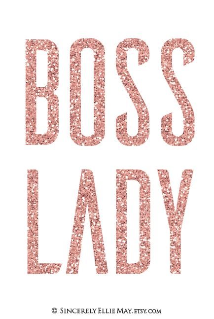 Modern Glam Rose Gold Boss Lady Typography Great To Hang In Your Home Office Homeoffice Bosslady R Gold Typography Printable Wall Art Rose Gold Wall Decor