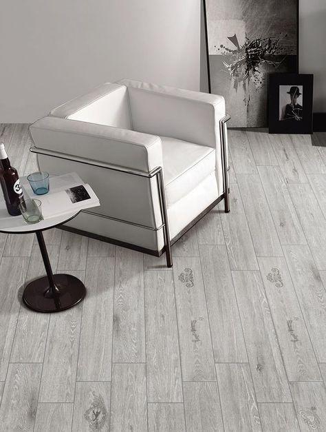 2019 的 gray wood look tile floor living room  kitchen