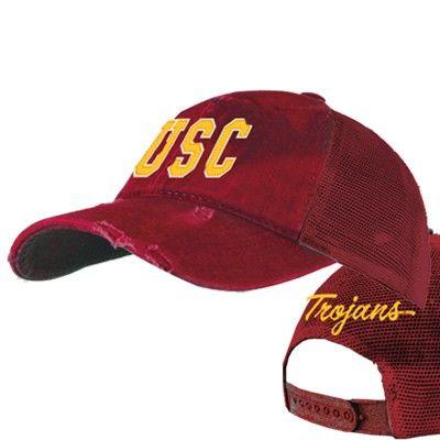 new concept 44916 1dd6b USC Trojans Mudwashed Snap Back Trucker Hat