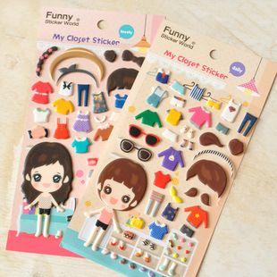 Diy Colorful Girls Locker Room 3d Kawaii Stickers Diary Planner