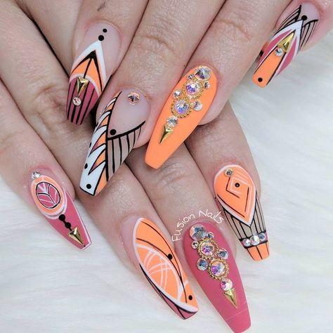 Look at these short acrylic nails.