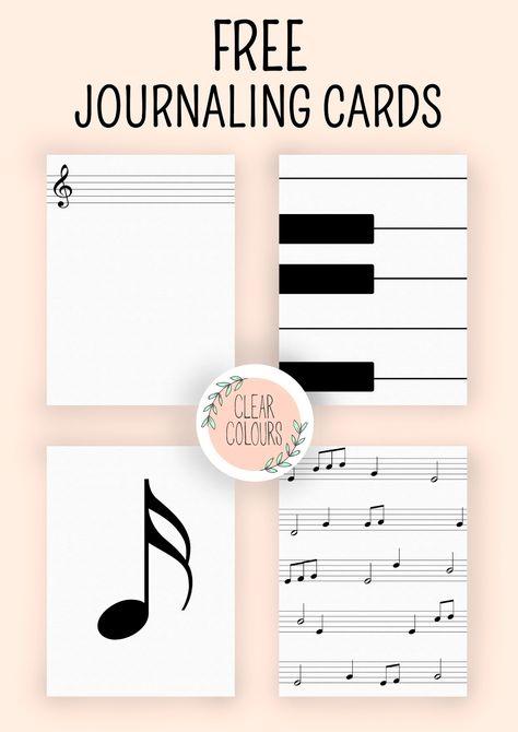 colores claros: Tarjetas en diario gratis: Música