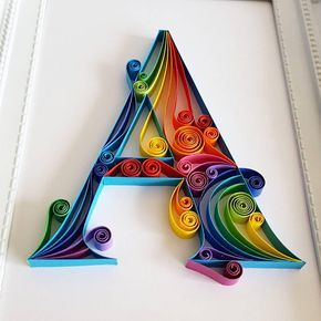 Handmade Quilling Paper Art with Monogram. The art is made with 7mm paper strips. Dimensions of the picture: 180x130mm. Its placed in a white frame with dimensions 230x180mm. The price includes the frame. The frame does not contain glass. Please let me know through ETSY Conversation if