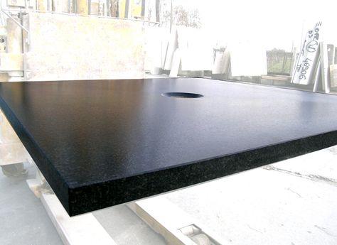 News 2014 Shower Tray Flora In Granite Nero Assoluto With