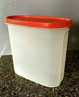 Vintage Tupperware Oval Modular Mates With Red Lid 7 1 4 Cup Size Ebay In 2020 Vintage Tupperware Tupperware Modular