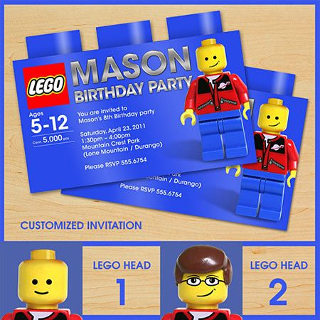LEGO Birthday Invitations Printable