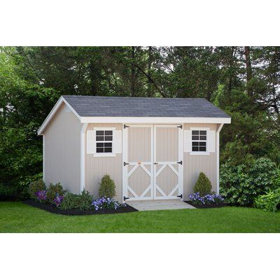 Little Cottage Company Saltbox Solid Wood Storage Shed Wayfair In 2020 Diy Storage Shed Wood Storage Sheds Building A Shed