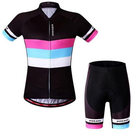 Chic Quality Simple Style Short Sleeve Jersey + Shorts Outdoor Cycling Suits