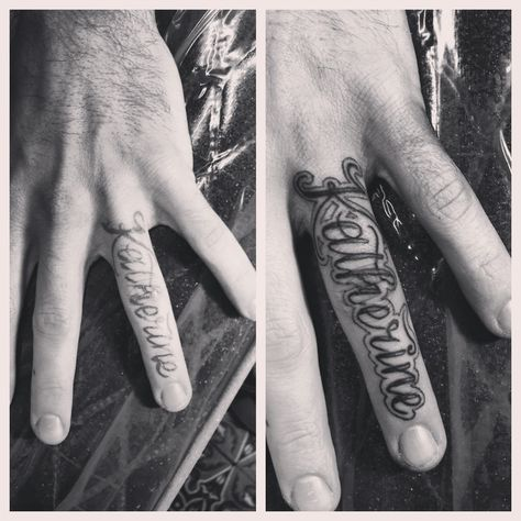Commitment Finger Tattoos Wedding Ring Love Foolishness Name
