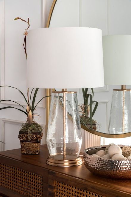 Revere 21 Inch Alice Glass Iron Table Lamp Rose Gold Lamp Table Lamp Rose Gold Lamp Lamp
