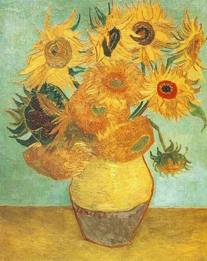 Las 10 Obras De Arte Mas Famosas Del Mundo Vincent Van Gogh Paintings Van Gogh Sunflowers Van Gogh Still Life
