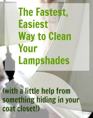 One easy trick to get your lampshades perfectly clean without dragging out the vacuum cleaner.