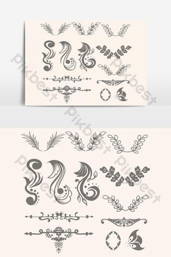 Floral Ornament Collection Vector Graphic Element Png Images Eps Free Download Pikbest Flyer Design Templates Png Images Logo Collection