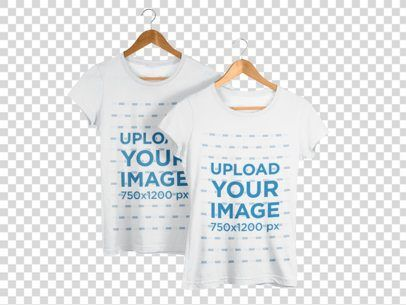 Download Placeit Two T Shirts Mockup On Hangers Against A Transparent Backdrop In 2020 Shirt Mockup Tshirt Mockup Mockup Design