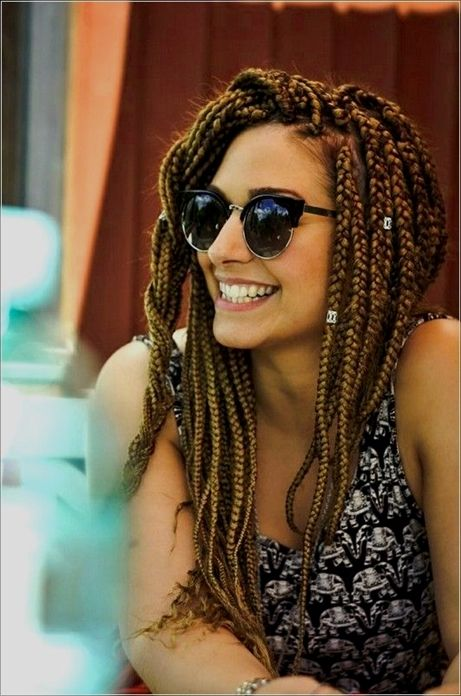 61 Totally Chic And Colorful Box Braids Hairstyles To Wear Box