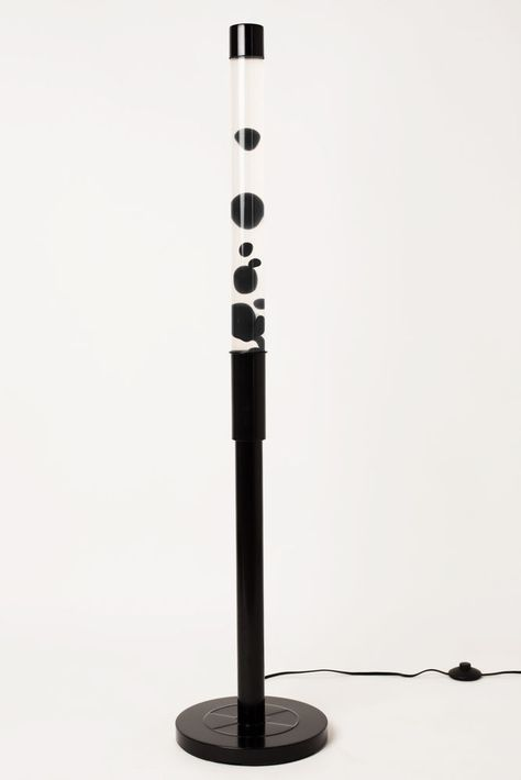 Tall Metal Floor Lamp With Black Finish