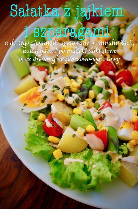 Salatka Z Jajkiem I Szparagami In 2020 Cobb Salad Food Salad
