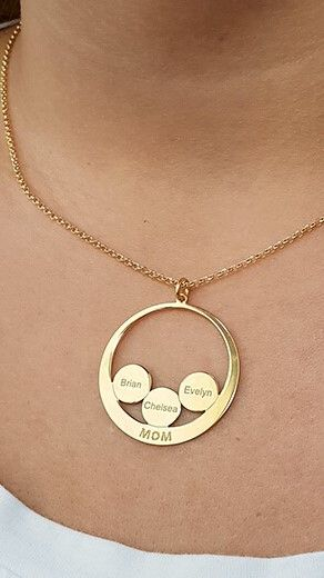 Classy Necklace Evelyn Real Gold Plated Name New