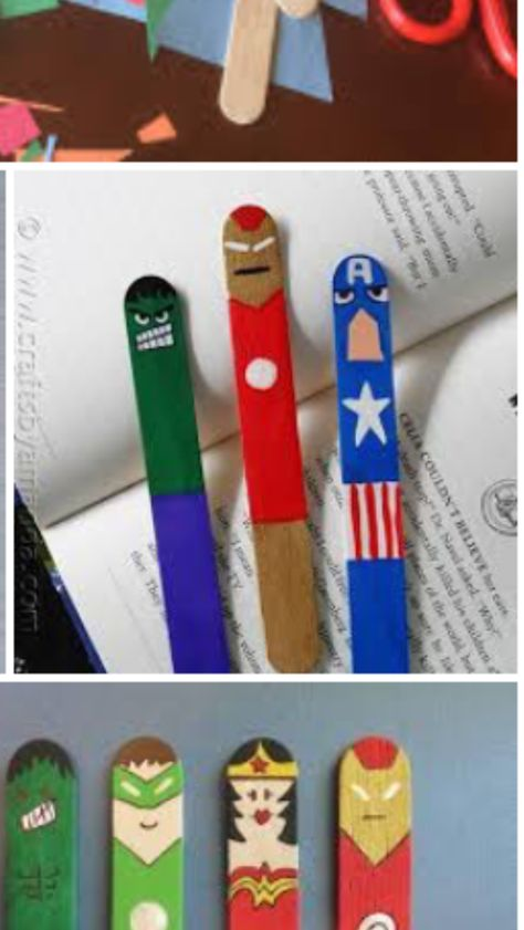 Lolly Sticks Ideas For Kids Marcadores Para Ninos Artesanias De