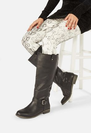 Hally Buckle Boot in Black - Get great